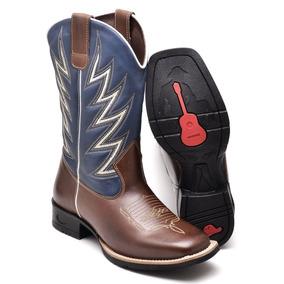 Bota Masculina Country Texana Couro Avestruz Bico Quadrado 2 5958e571949