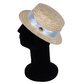 Chapéu Palheta Dourado Com Faixa Azul Claro Com Frete Gratis 2602952893d