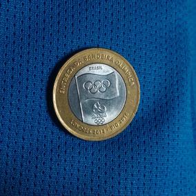 Moeda Comemorativa Entrega Da Bandeira Olímpica 2012