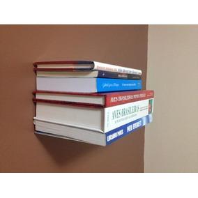 Prateleira Invisível Para Livros Kit 4 Pçs
