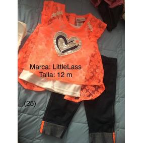 (mod.25) Conjunto Blusa Con Pantalon Little Lass 12 M Nuevo
