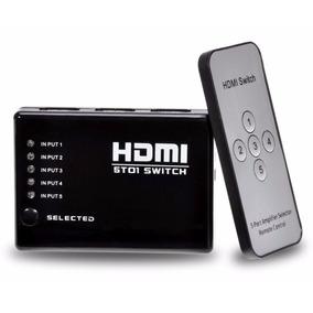 Hub Switch Hdmi 5 Portas Playstation Xbox Dvd Tv Lcd Led