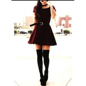 Medias negras largas para vestido