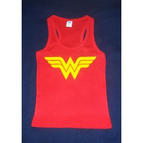 Blusa Camiseta Playera Wonder Woman Mujer Maravilla Escudo bac25710fc9ff