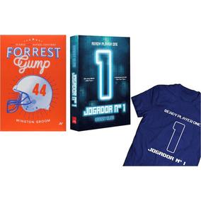 Livro - Jogador N1 + Camiseta Tamanho G + Livro Forrest Gump