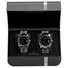 Claude Bernard 2x1 Set Couple Black Acero Negro Diego Vez