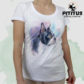 86b0a9368 Camiseta Bulldog Frances - Camisetas Manga Curta no Mercado Livre Brasil