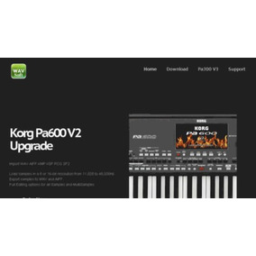 Atualização Korg Pa600 V2.0 (sampler Editor) + Kit Samples