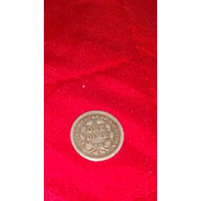 Moeda Americana One Dime 1857 Rara