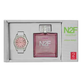 Reloj Set Mujer Nine2five + Perfume Afgc12blsl.set Watch It!