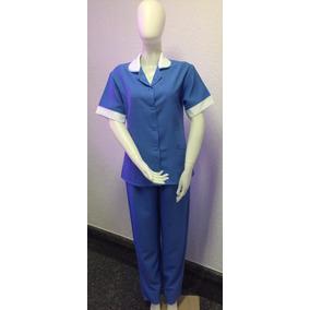 Uniforme Conjunto Copeira / Hospitalar Azul