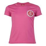 Camisa Internacional Rosa Baby Look Infantil Dry Original