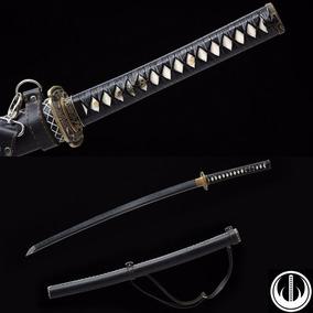 Espada Katana Samurai Com Corte Aço T10 Afiada Alça Tática