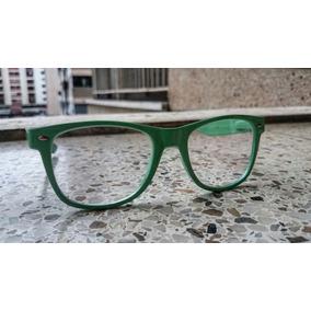 Lentes Retro Cristales Transparentes Montura Verdes Nuevos