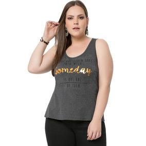 Blusa Estampa Metalizada Lunender Plus Size Feminina a5a2cccc90cf0