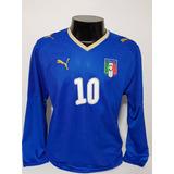 9815119cff Camisa Itália Home 08-09 Manga Longa Totti 10 Importada