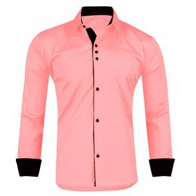 8977fe2de4 Camisa Slim Fit - Camisa Social Manga Longa Masculino no Mercado ...