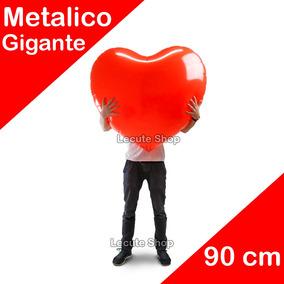 Globo Metálico Corazón Gigantes Amor San Valentin Amistad