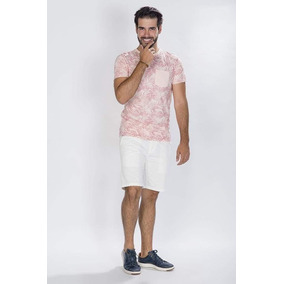 Playera Mc Estamp C Bolsa Palms Rosa-a80161-ros A1