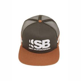 Boné Nike Sb Snapback Cut Trucker Caqui Verde Com Redinha 140f5560555
