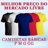 49fe3b8862b5c Camisa Masculina Malha Algodao Atacado Camiseta Lisa