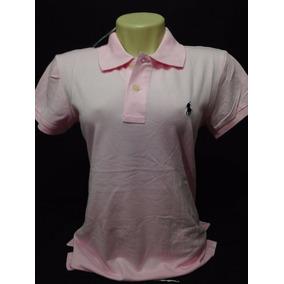 Camiseta Polo Ralph Lauren Fem. Rosa Cavalo Azul Tam M 9cc11e3e1fb
