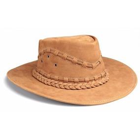 Chapeu Couro Legitimo Boiadeiro Country Cowboy Australiano - Chapéus ... 341931f0cf0