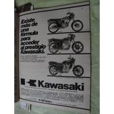Publicidad Moto Kawasaki Z 440 - Z 1300 - Gto 110 Año 1980
