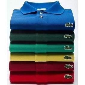 Kit 5 Camisas Lacoste - Pólos Manga Curta Masculinas no Mercado ... 45b8b2d0dc