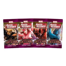 Pack De Cartas Marvel Battle Scenes Poderes Ocultos + Brinde