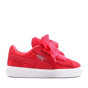 Tenis Puma Suede Heart Valentine Infant 365137-01 Rosa