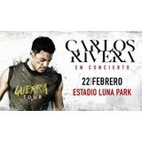 Entradas Carlos Rivera 22 Febrero Luna Park Envios Correo