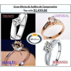 Gran Oferta Anillos De Compromiso Oro Rosa Y Plata 925