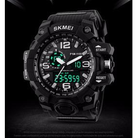 Relógio Skmei Masculino Mod1155 Funcional Tipo Militar Preto