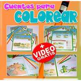 Cuentos Infantiles Para Leer Y Colorear Set De 2. Oferta