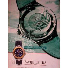 406634a377c Publicidad Antigua Relojes Fevre Leuba Submarina 1990s Qqx