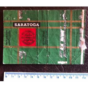 Antigua Marquilla Etiqueta De Papel Cigarrillos Saratoga