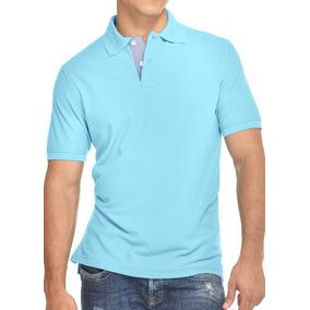 74a1f88e4181d Camiseta Tipo Polo Azul Con Rojo - Camisetas de Hombre en Mercado ...
