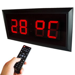 Relógio De Parede Grande 78cm X 38cm Controle Remoto Alarme