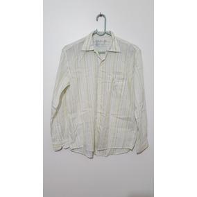 Camisa Social Masculina Listrada Manga Longa Brooksfield 6d282b18731e9
