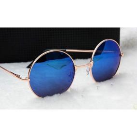 d5ab3eae83c98 Óculos De Sol Redondo Lennon Ozzy Retrô Vintage Round Metal