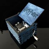 Caixinha De Música Com Tema Do Harry Potter Azul