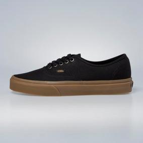 Tenis Vans Authentic Light Gum Black Color Negro Talla 27.5 b742dc00126