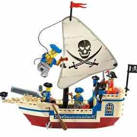 Blocos De Montar Navio Pirata Brinquedo Compatível Lego