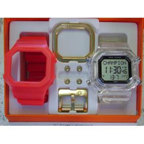 52090ff10c2 Relogio Champion Yot Transparente E Vermelho - Relógios no Mercado ...