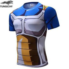 Camisa Camiseta Dragon Ball Z Branco C/ Azul