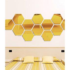Espelho De Vidro Hexagonal Para Decoração - Kit Grande