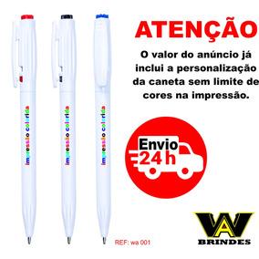 300 Canetas Personalizadas Wa 001 Brindes - Imp.colorida