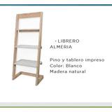 Librero Vintage Color Madera Natural Y Blanco