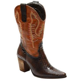 0833d1083fa83 Botas Country Feminina Texana Anaconda - Botas no Mercado Livre Brasil